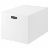 ТЬЕНА Коробка с крышкой,белый